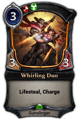 Whirling Duo card