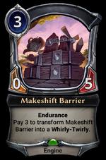 Makeshift Barrier