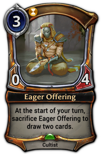 Eager Offering card