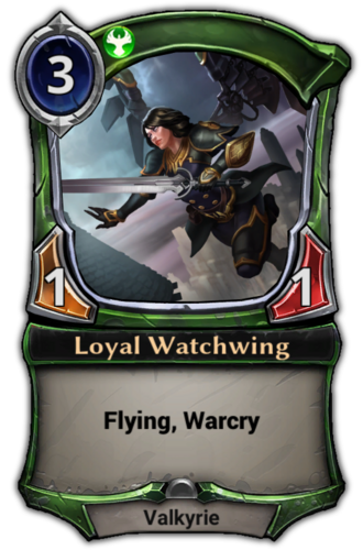 Loyal Watchwing card