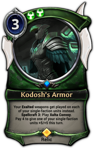 Kodosh's Armor card