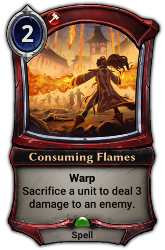 Consuming Flames card