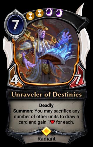 Unraveler of Destinies card