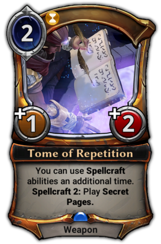 Tome of Repetition card