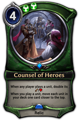 Counsel of Heroes card