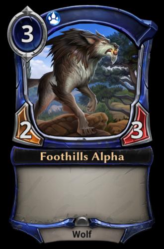 Foothills Alpha card