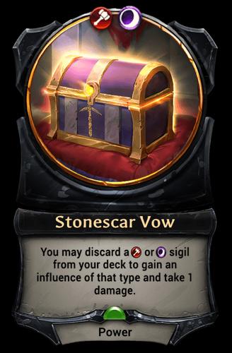 Stonescar Vow card