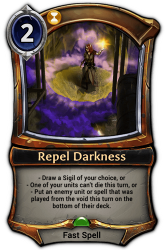 Repel Darkness card