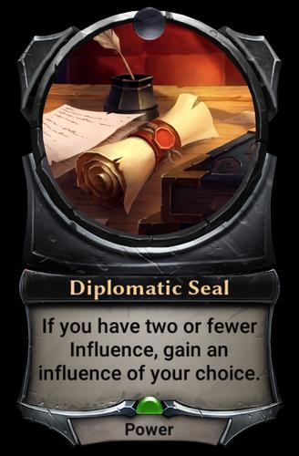 Diplomatic Seal card