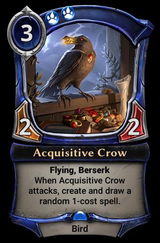 Acquisitive Crow card