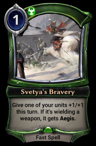 Svetya's Bravery card