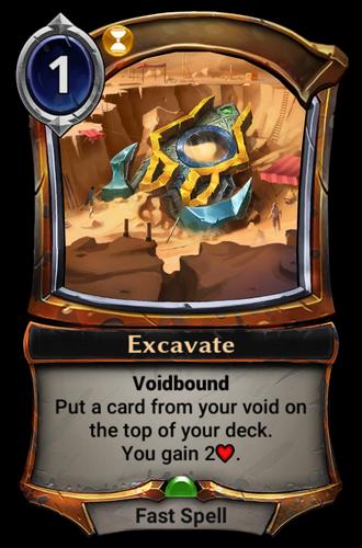 Excavate card