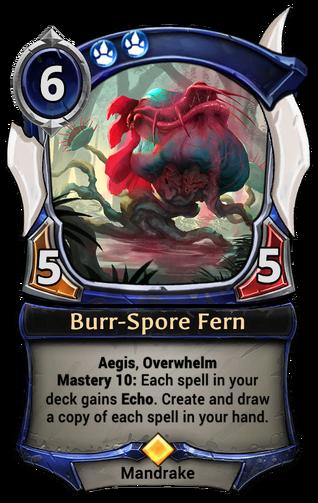 Burr-Spore Fern card