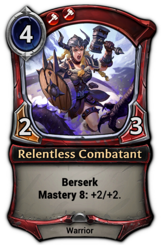 Relentless Combatant card