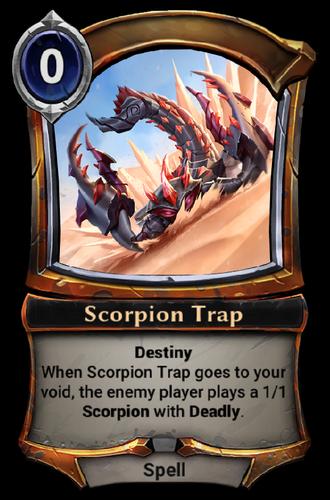 Scorpion Trap card