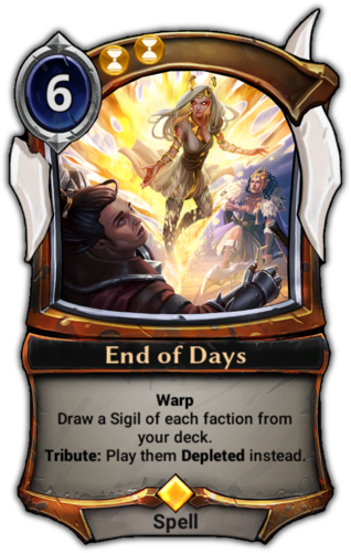End of Days card