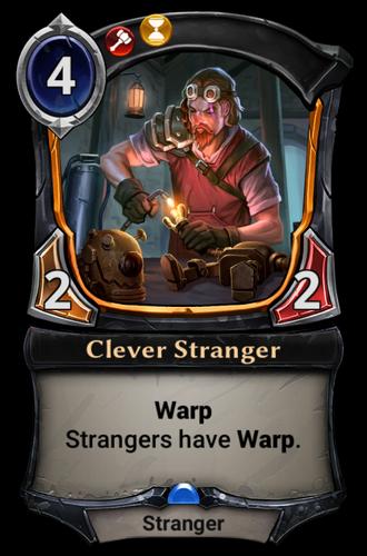 Clever Stranger card