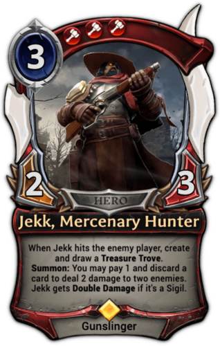 Jekk, Mercenary Hunter card
