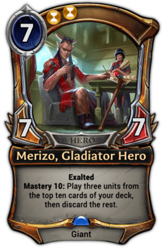 Merizo, Gladiator Hero card