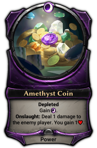 Amethyst Coin card