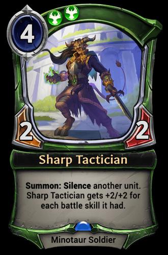 Sharp Tactician card