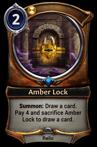 Amber Lock card