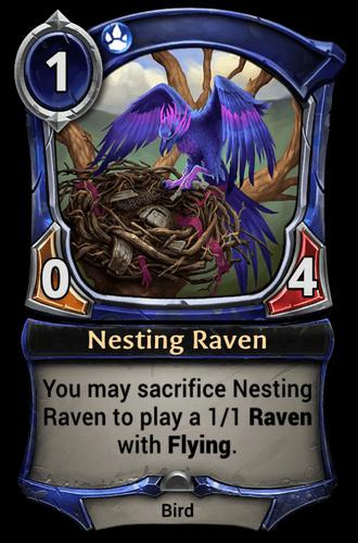 Nesting Raven card