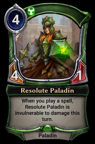 Resolute Paladin card