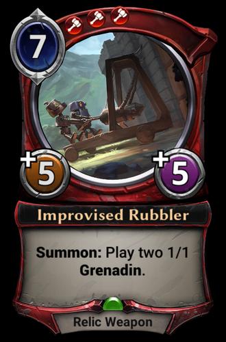Improvised Rubbler card