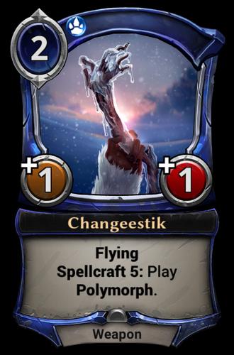 Changeestik card