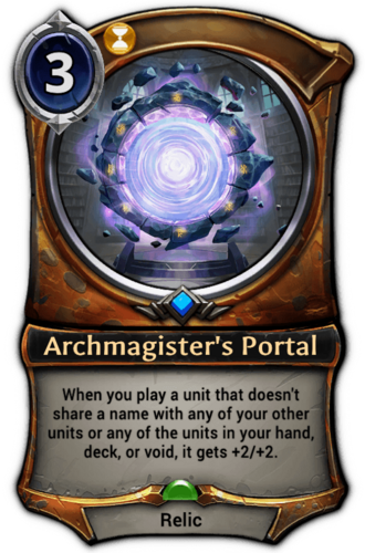 Archmagister's Portal card