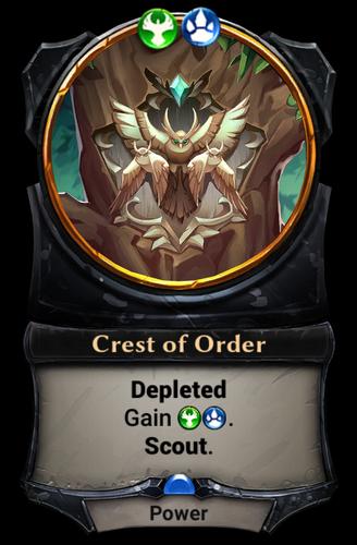 Crest of Order card