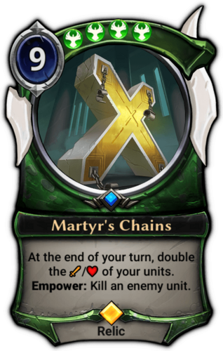 Martyr's Chains card