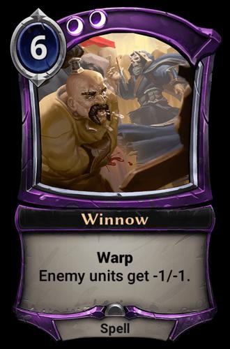 Winnow card