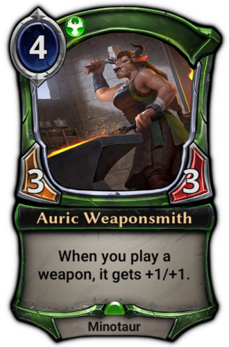Auric Weaponsmith card