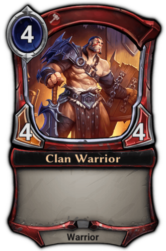 Clan Warrior card
