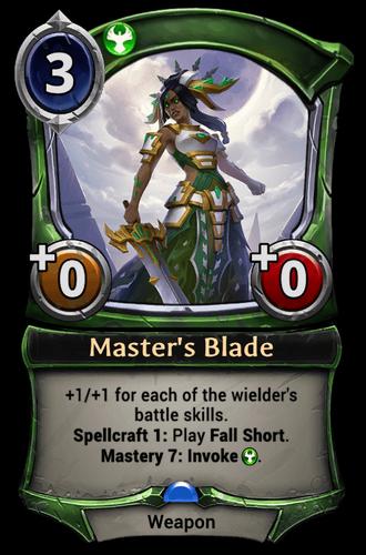 Master's Blade card