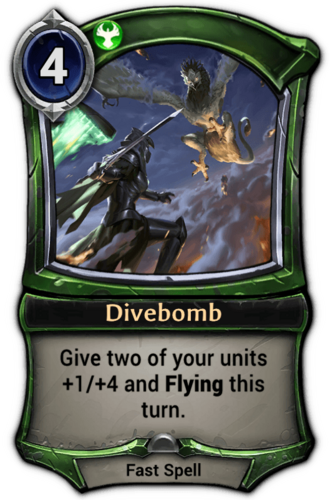 Divebomb card