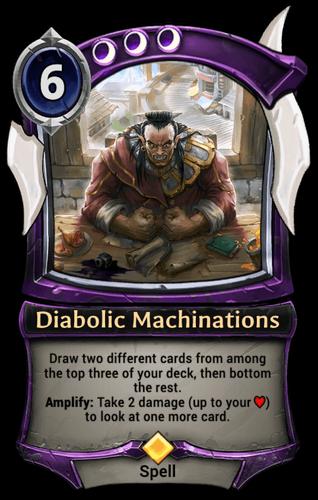 Diabolic Machinations card