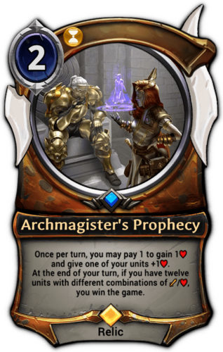 Archmagister's Prophecy card