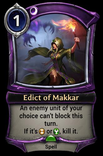 Edict of Makkar card