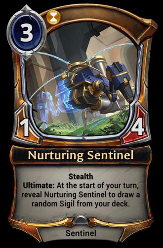 Nurturing Sentinel card