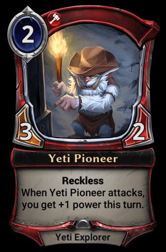 Yeti Pioneer card
