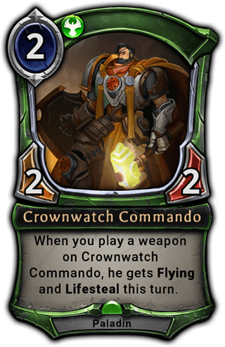 Crownwatch Commando card
