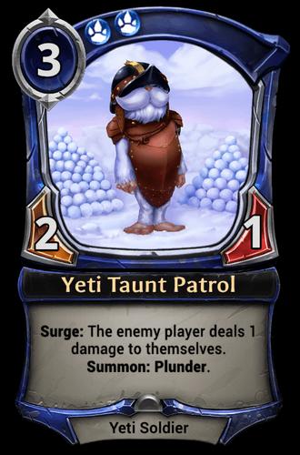 Yeti Taunt Patrol card