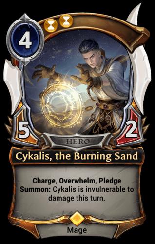Cykalis, the Burning Sand card