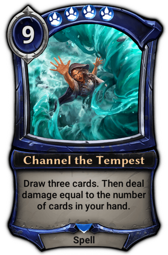 Alternate-art Channel the Tempest card