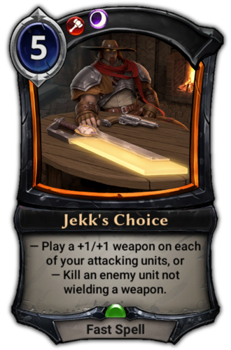 Jekk's Choice card