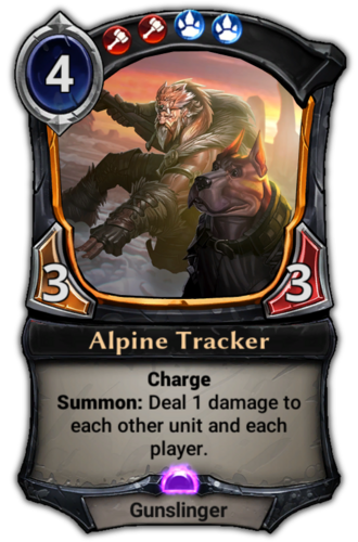 Alpine Tracker card