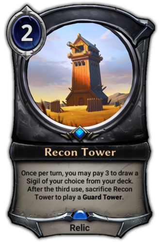 Recon Tower card
